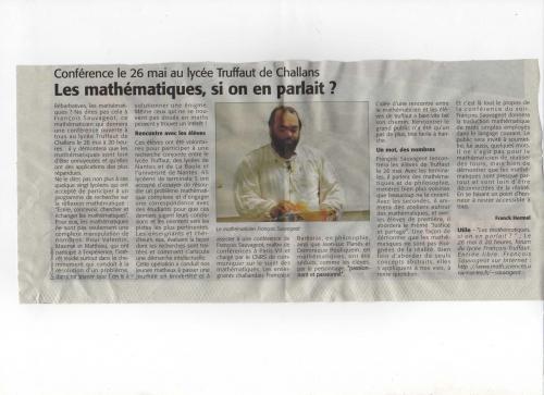 Les maths, si on en parlait ?