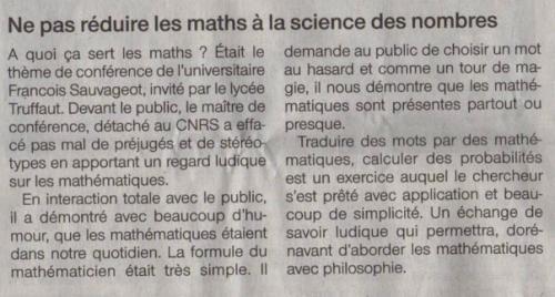 À quoi ça sert les maths ? (2)